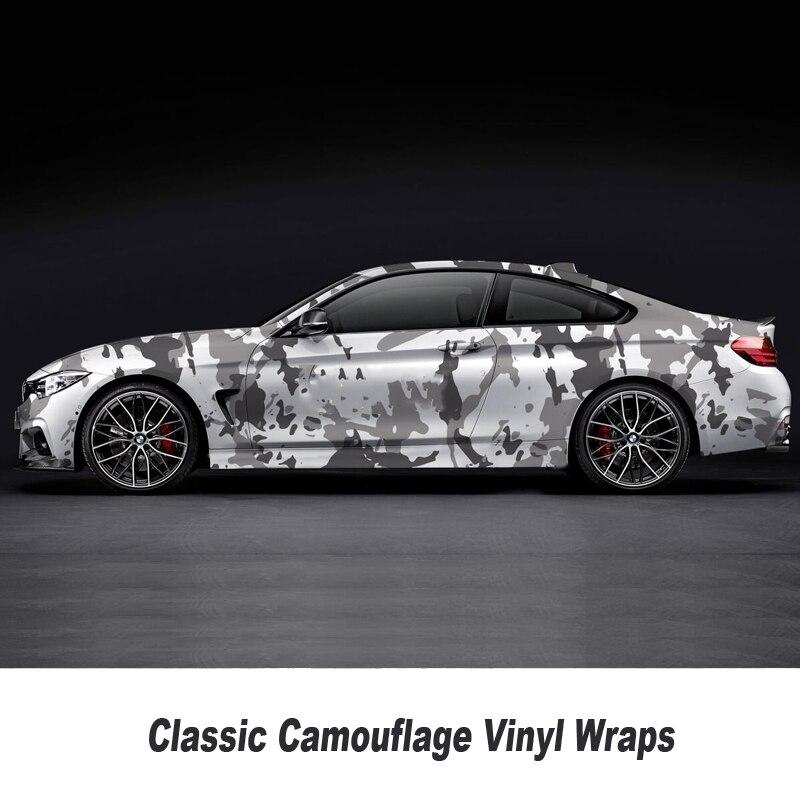 5/10/15/20/25/30 m Camouflage vinyle Wrap pour capot toit moto planche à roulettes décalcomanie Camo Film feuille collante