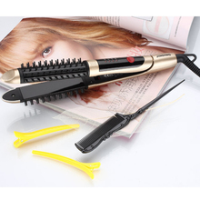 Cheap price 2017.2 in 1 HAIR Straightener and Hair curling Iron.Universal voltage.With lock system.With prevent scalding comb