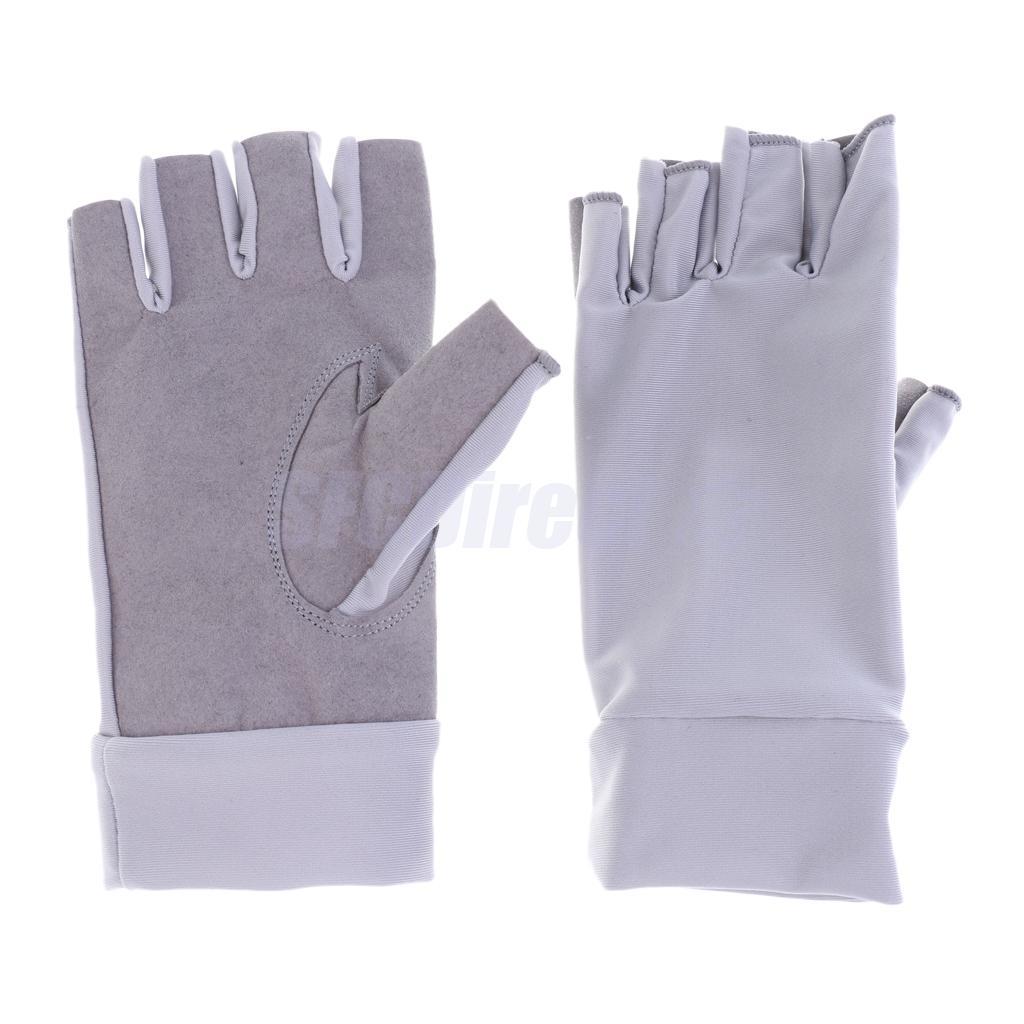 UPF 1 Pair Sun Gloves Half Finger Fishing Gloves Anti-UV Sun Protection 50