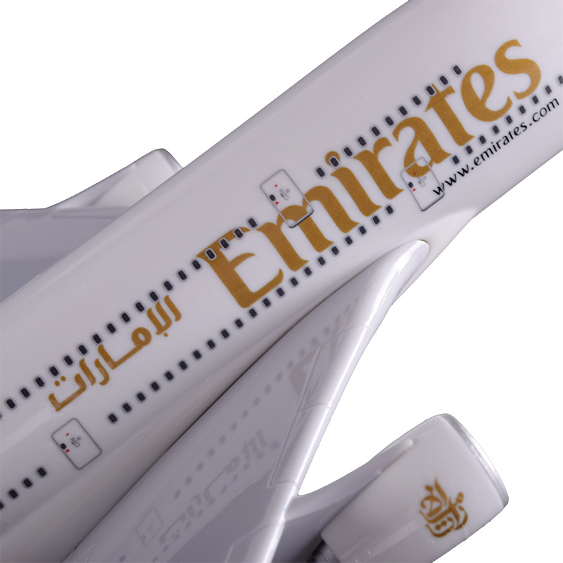 36cm Resin Airplane Model A380 United Arab Emirates Airlines Airbus Model Emirates Airways Souvenir Travel Gift Aircraft Model