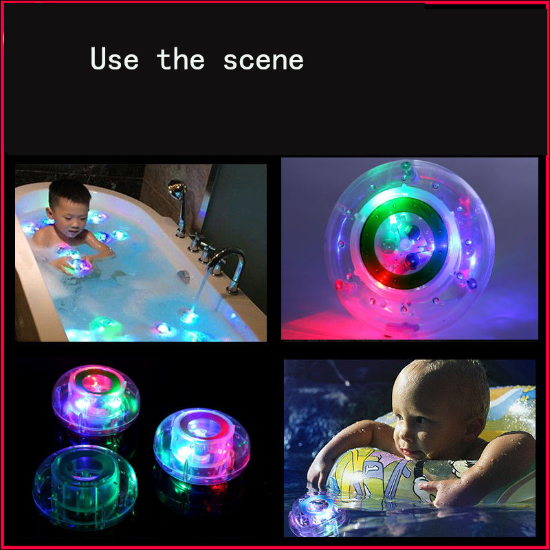 Baby Fun in the Tub Bath Toys Colorful Changing Bath Funny LED Light Toy Party