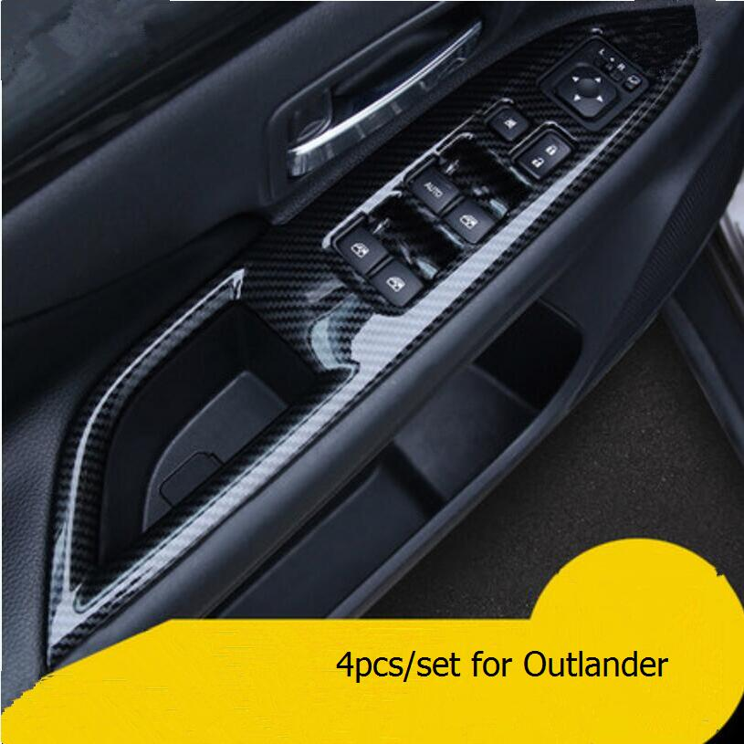 car styling interior door handle armrest panel decoration sticker case for mitsubishi outlander 2013 - Mitsubishi Evo Interior 2013