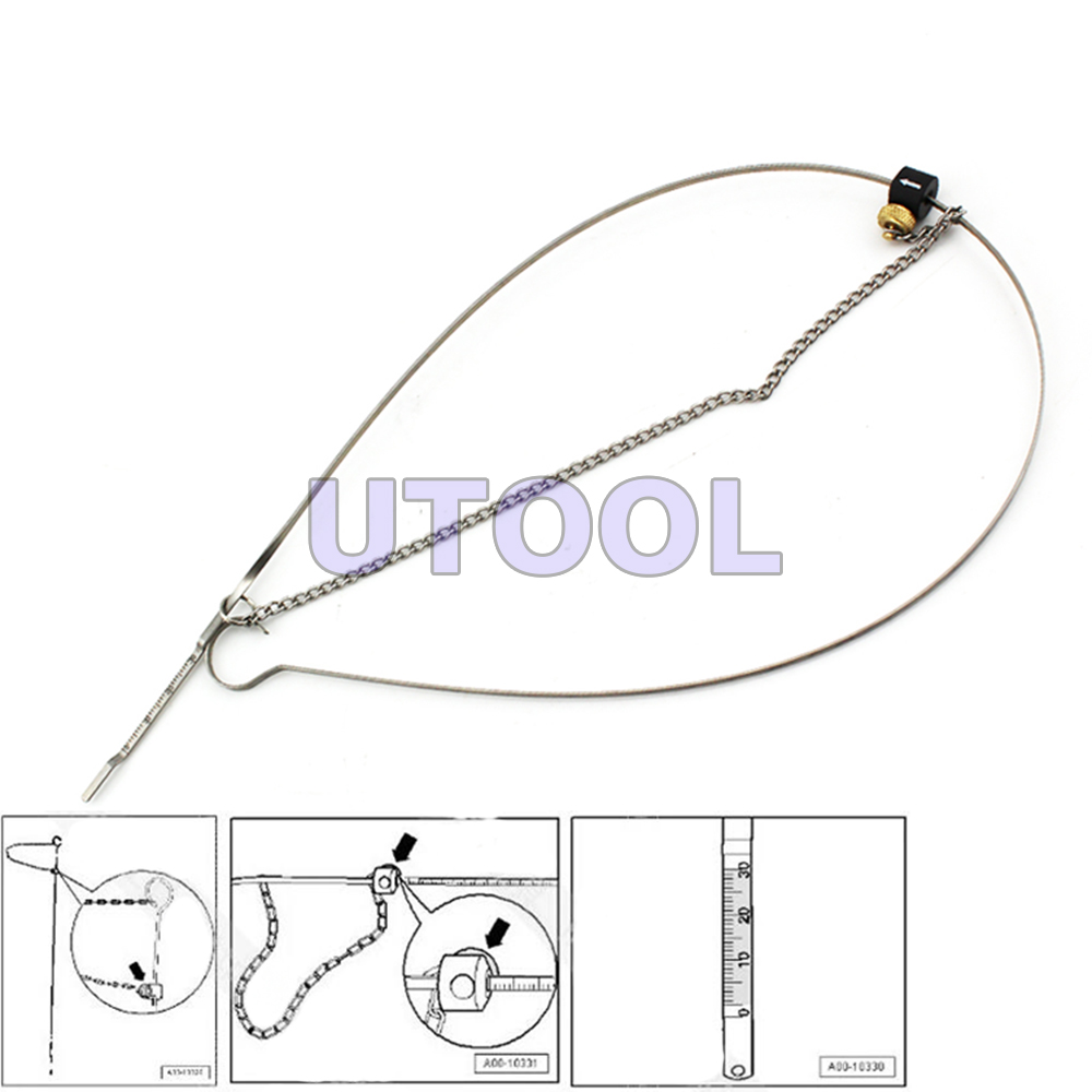 T40178 Adjustable Engin Oil Dipstick Gauge Tool for Audi A6 A5 A4,2.0L,3.2L,4.2L
