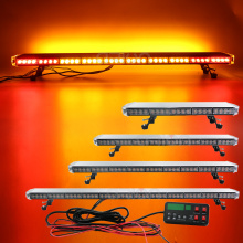 "25"" to 63"" LED Strobe Light Bar Fireman Police Flashing Emergency Warning Car Truck lightbar Back W/ Brake Turn Lights Amber"