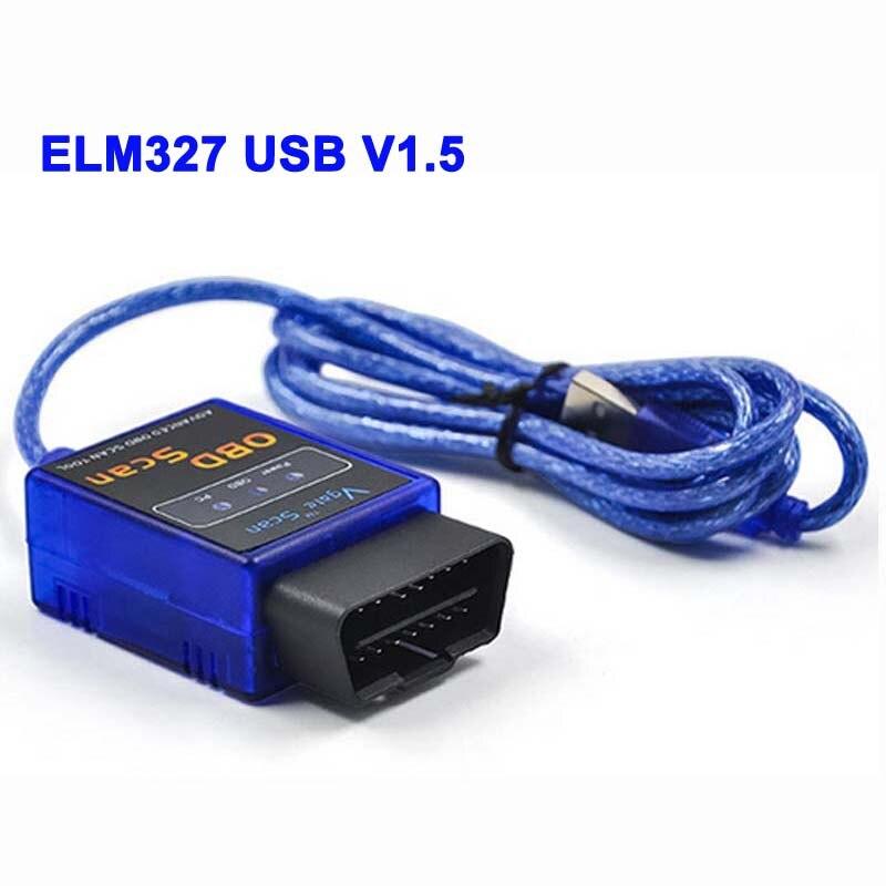 Prix pour Date V1.5 ELM327 USB Interface De Diagnostic Scanner Obd2 Elm 327 V 1.5 USB OBD ScanUSB Voiture Scanner Véhicule Outil De Diagnostic LR20