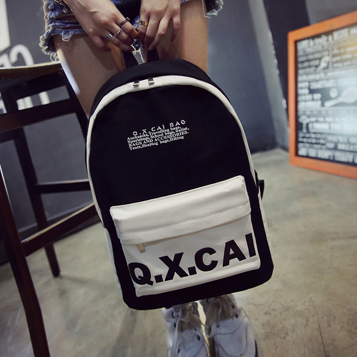 Fashion laptop Canvas Backpack Korean Women School Bags for Teenage Girls Cute Book Bag Simple Preppy Backpacks Female l Bag 2016 hot sale fashion canvas cute mustache school book bag vintage women backpack casual women backpack