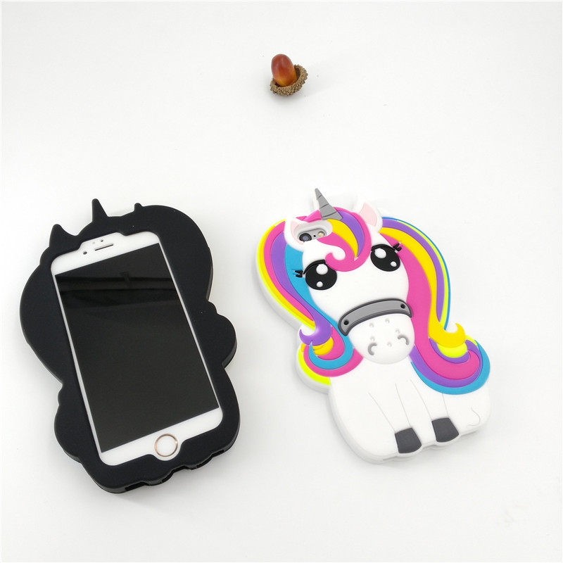 HTB16lnyPFXXXXXGXpXXq6xXFXXXK - FREE SHIPPING For iPhone 7 7Plus 6 6s Plus 5 5s 3D Rainbow Unicorn Case Horse Cute Cartoon Silicone Rubber Soft Cell Phone Cover Shell