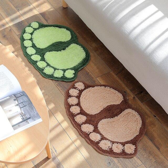 Stampa del piede Bagno Zerbino s antiscivolo Tappeto Bagno Zerbino Wc Bagno Tappetini Da Bagno Pad Tappeti In Microfibra Mini Zerbino s