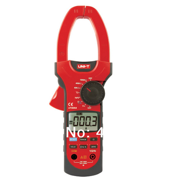 UNI-T UT-208A LCD Clamp Digital Multimeter UT208A AC DC Volt Amp Ohm Hz Capacitance