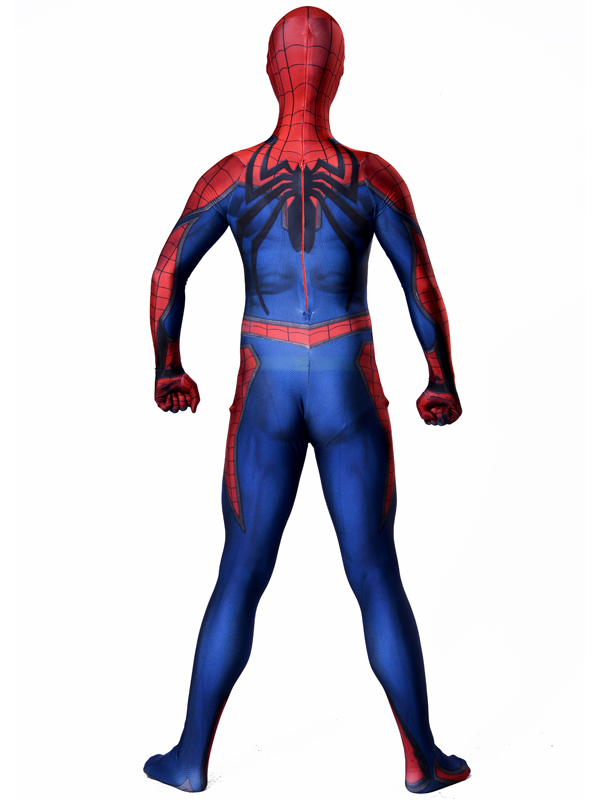 1 Amazing spiderman costume Ultimate Spiderman Costume Cosplay Halloween Superhero Costume Newest Fullbody spiderman Suit (2)