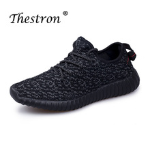 Big Size Sports Sneakers Cheap Lace Up Trail Running Shoes Mesh Breathable Black White Spring Autumn Men Footwear