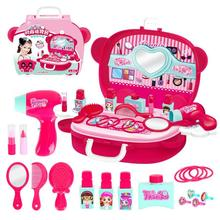 Children Pretend Play Toy Cosmetics Princess Makeup Box S Hairdressing Simulation For Girls Toys