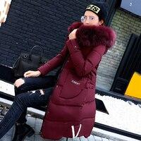 2018 Parkas Women Winter Coats Casual Fashion Winter Women Parka Overcoats Ladies Slim Long Jackets Coat Black Green Gray MDR107