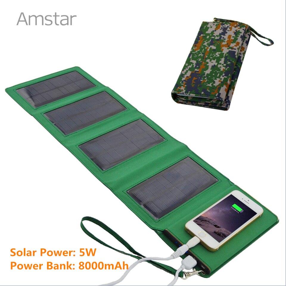 SUNPOWER Panel Foldable Solar Panel font b Charger b font 8000mAh Power Bank Portable Solar