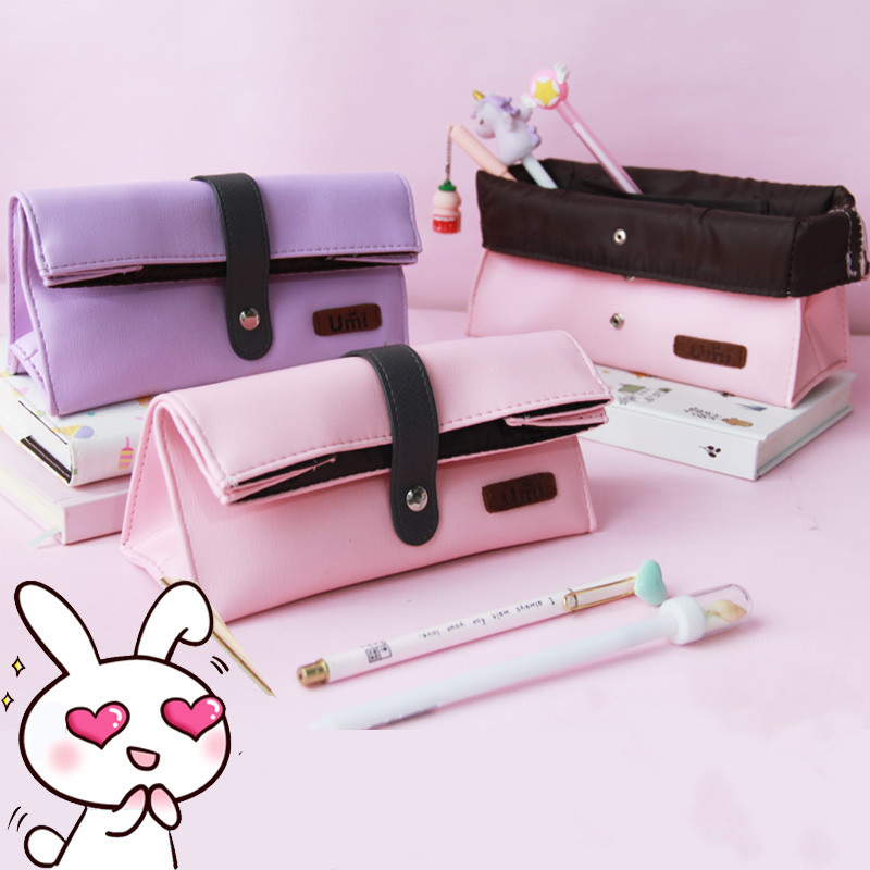 The Pencil Bag Is Simple The Girl's Heart Is Creative The Student's Lovely Largecapacity Multifunctional Stationery Bag