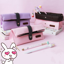 The Pencil Bag Is Simple Girl's Heart Creative Student's Lovely Largecapacity Multifunctional Stationery