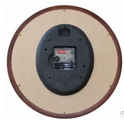 Подлинное Европейское качество модные настенные часы креативные гостиной спальни коричневые деревянные настенные часы круглые экологиче... - 3