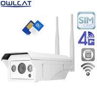 OwlCat SONY323 HD 1080 P 960 P Bullet Extérieure WIFI IP Caméra Sans Fil 3G 4G Téléphone SIM Carte AP CCTV Sécurité Caméra et Micro SD carte
