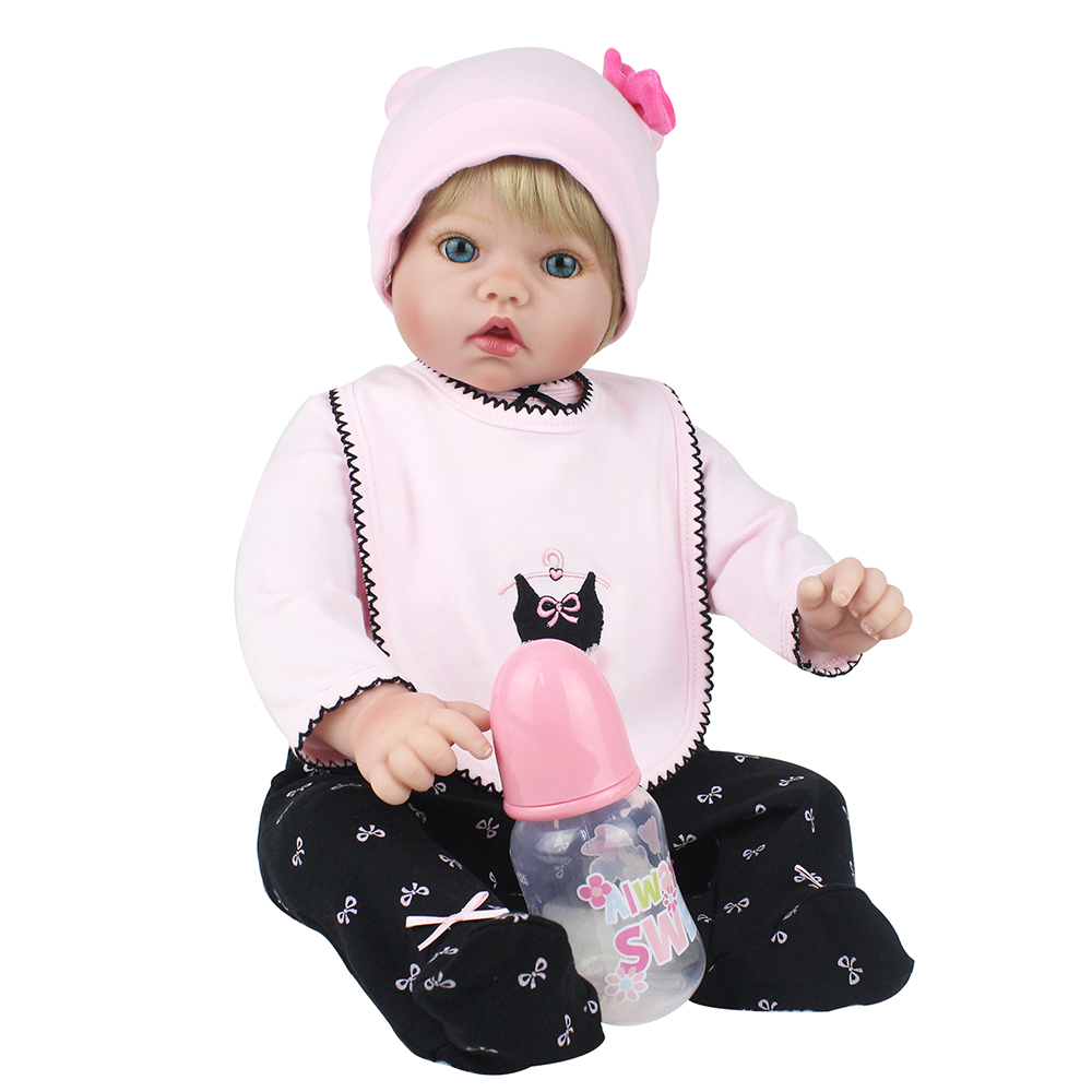 22 inch 55cm Silicone Reborn Baby Dolls Alive Handmade Lifelike Real Princess Girl Cute Kid Toys for Children Birthday Xmas Gift цены