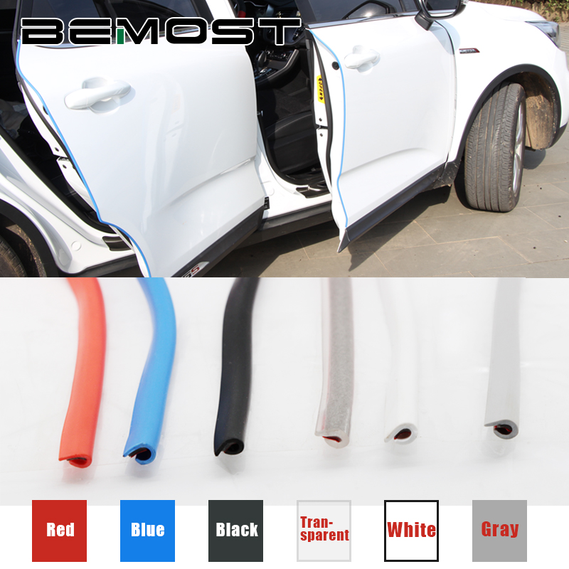 BEMOST Car Styling Door Edge Crash Strip Protection Scratch Sticker Auto Accessories For Audi For A4(B8) A6(C7) Q7 A8 Q3 A3 Q5 auto chrome red black quattro rear trunk emblem badge sticker fit for a3 a4 a5 q5 q7 car styling auto accessories car sticker