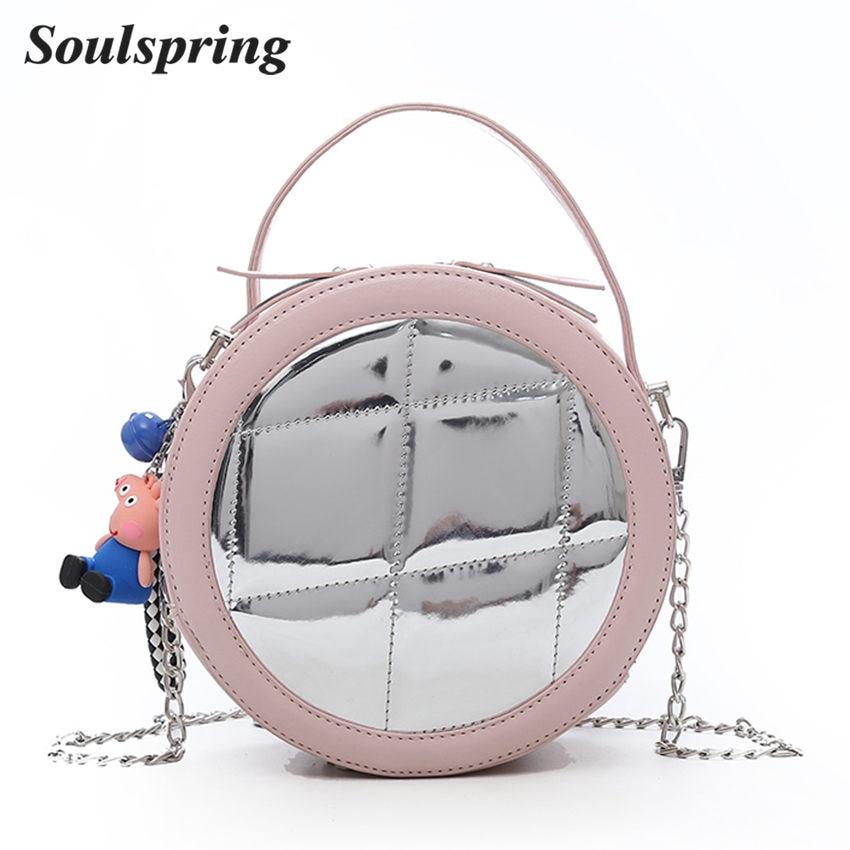 Fashion Quality Cute Bear PU Leather Handbag Barrel Shaped Clutches Women Crossbody Bag Travel Round Totes Beach Bag and Purse