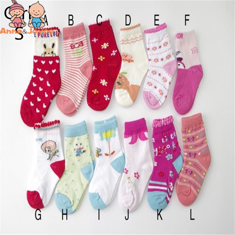 5pairs/lot Kids Girls  Boys  Socks Spring And Autumn Cotton Socks Cartoon Lace Socks For 3- 10 Years