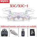 Versión de actualización syma x5c x5c-12.4g 2.4g 6 canales 6axis drone quadcopter control remoto rc helicóptero con cámara de alta definición dron juguete