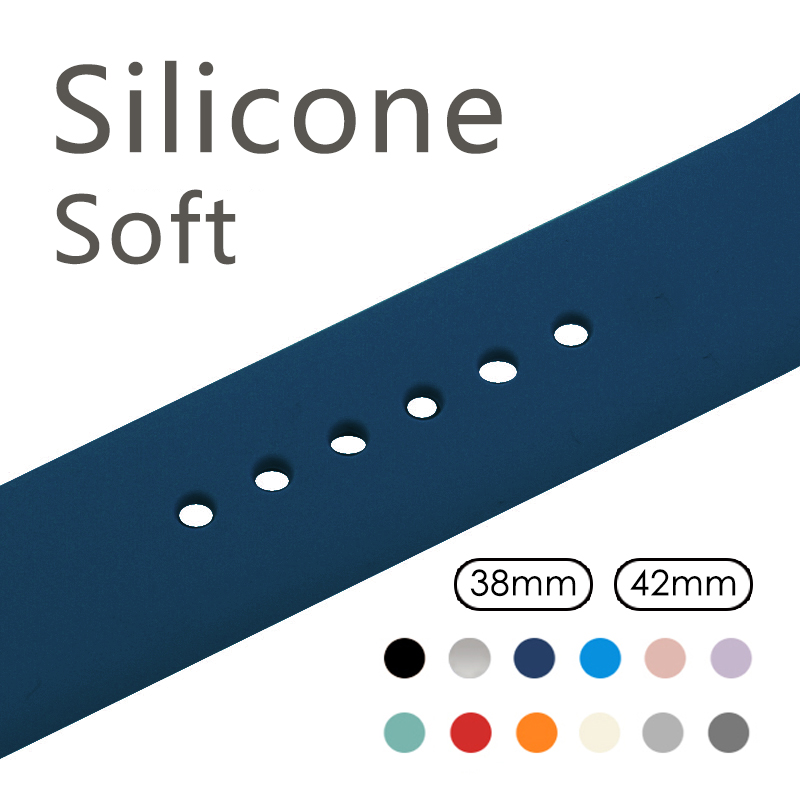 Silicone Sport Band for Apple Watch Band Sport Strap For iWatch 42mm 38mm Series2 Series3 Wrist Bracelet eache silicone watch band strap replacement watch band can fit for swatch 17mm 19mm men women