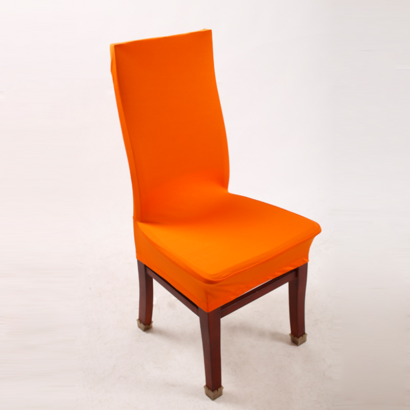 Orange Chair Packaging Covers Lycra Spandex Stretch Chair For Kitchen Room  New Elegant Chair Cove Dining ...
