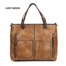 Luxy Moon Women Shoulder Bag for Shopping Classic Handbags Screw Design Sac A Main Shopper Totes High Quality Dames Handbag