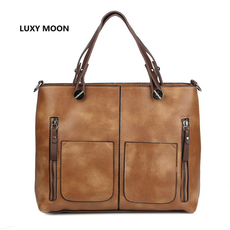 PU Leather Classic Large Handbags for Women Luxury Designer sac a main High Quality Shopping <font><b>Tote</b></font> Vintage Fashion Shoulder Bags