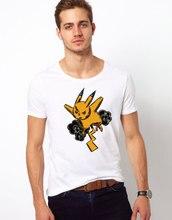 2016 Men's Pokemon go T shirt Camiseta Fashion Summer Short Sleeve Manga Pikachu Clothes Women Pika Funny T-shirt