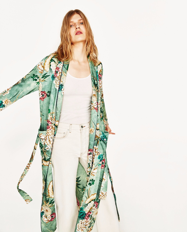 Floral Print Women Kimono Cardigan Long Sleeve Sashes Spring ...