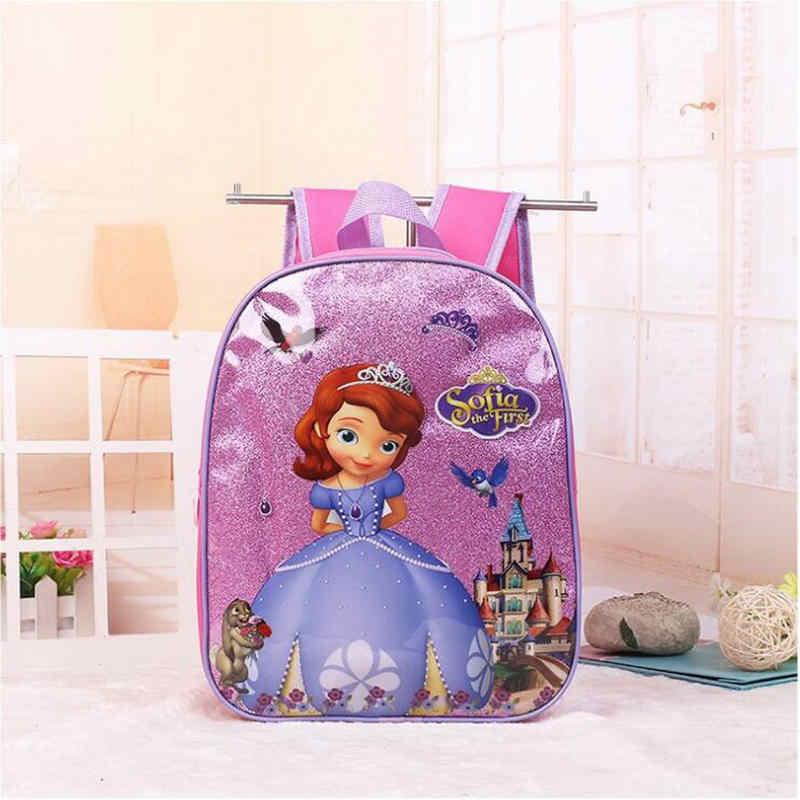 Новинка 2017 года с рисунками для детей Эльза Анна школьный принцессы для девочек милые школьные сумки София рюкзаки для детского сада в наличии