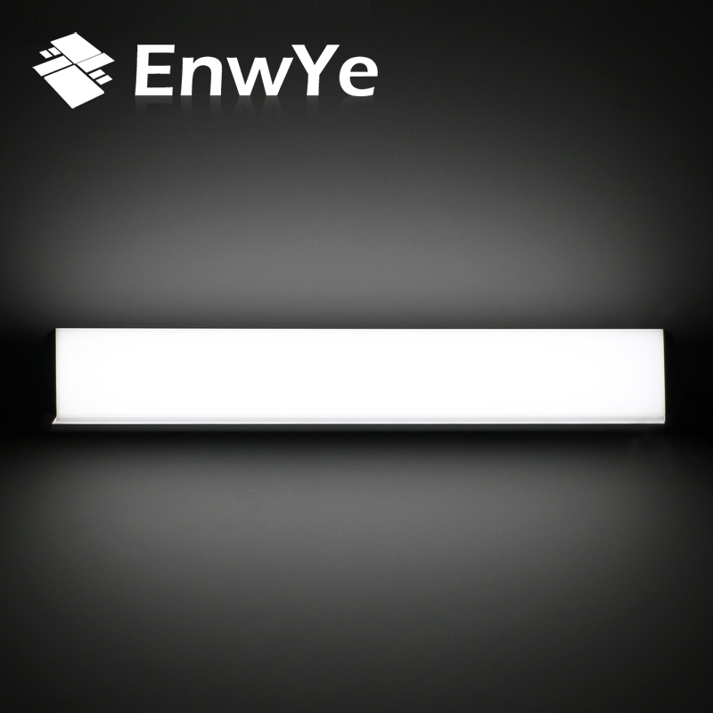 EnwYe Modern LED wall lamp mirror light 12W 16W 22W waterproof fixture AC220V 110V Acrylic wall mounted bathroom lighting BD70 38cm 58cm led mirror light 12w or 18w waterproof wall lamp fixture ac110v 220v acrylic wall mounted bathroom lighting free ship