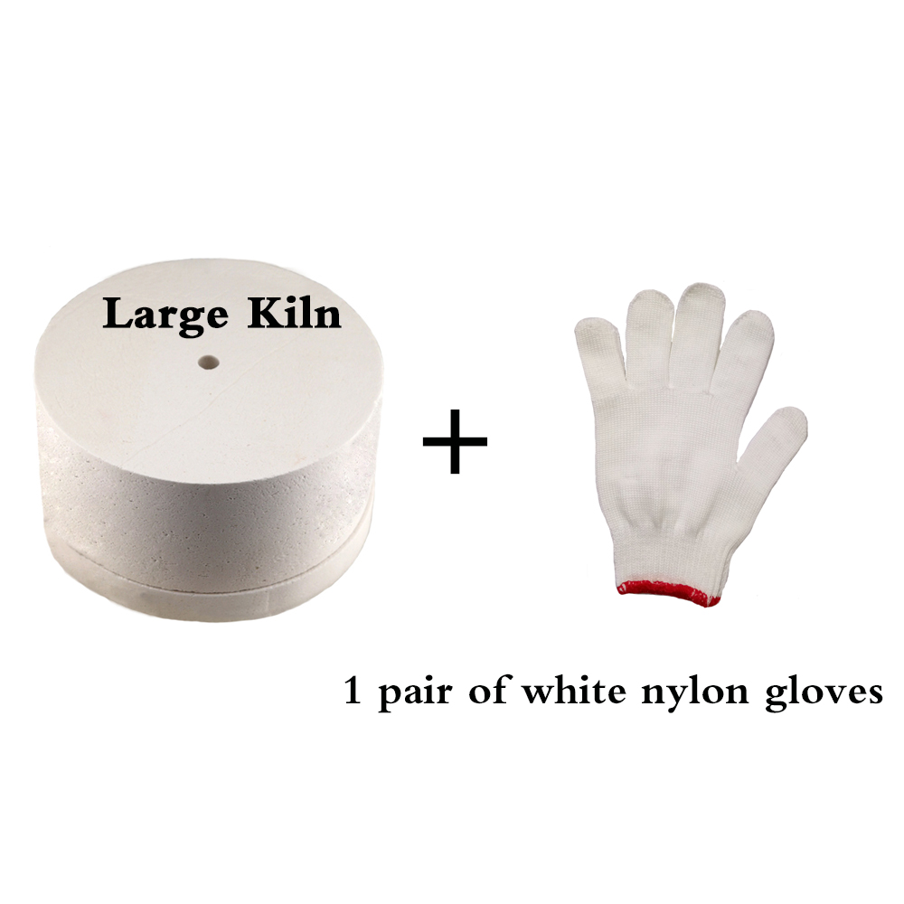 1 Large Microwave Kiln and 1 Pair of white cotton <font><b>glove</b></font> for Glass Fusing DIY Jewelry Making Tool 19.5cm*11cm XGMK003
