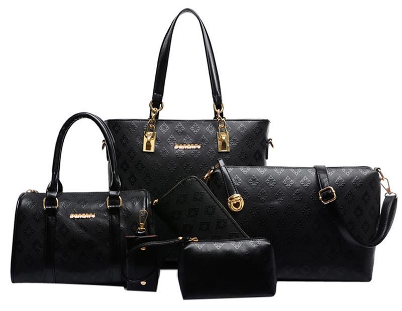6PCS/SET Leather Women Handbags Shoulder Crossbody Bag Purse Wallet Women Envelope Messenger Bags Female Composite Bag цена
