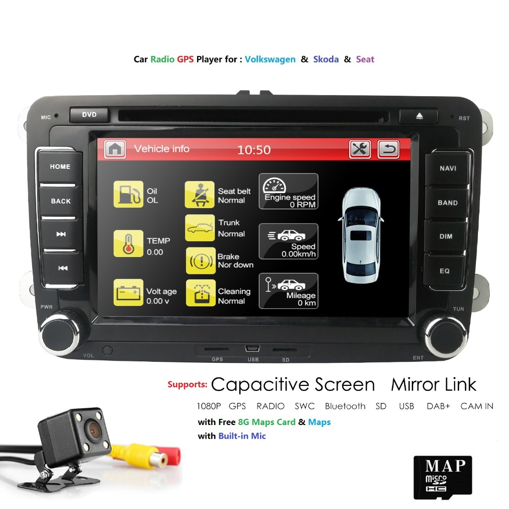 7 Android Car Multimedia player 2 Din Autoradio For VW Golf 5 Passat b6 SEAT Leon