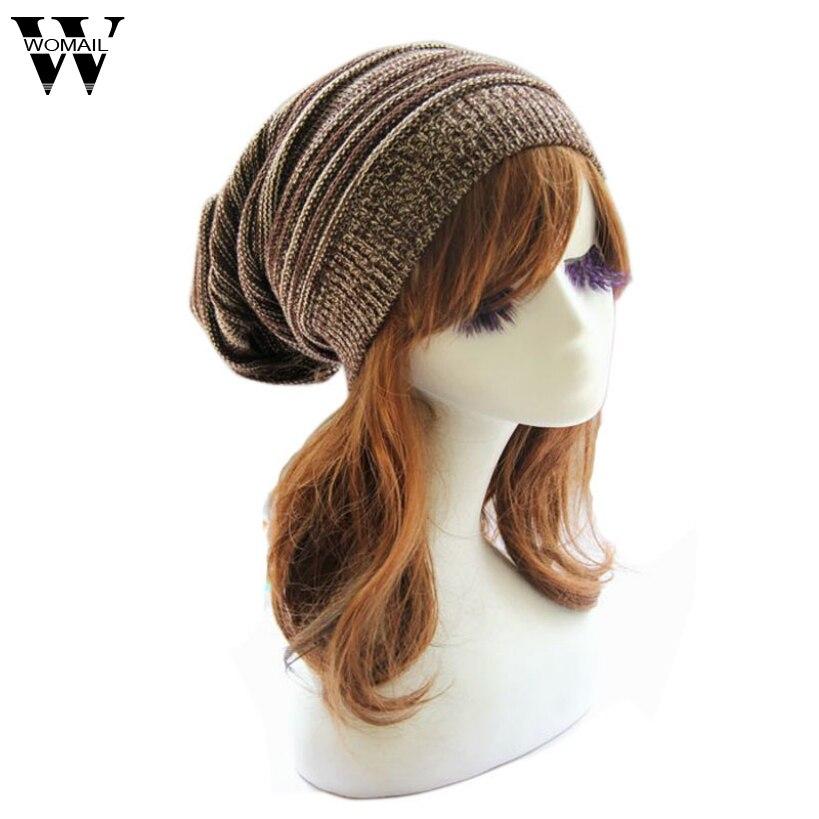 063002 Amazing Fashion Women Knit Baggy Beanie Cap Winter Warm Oversized  Cap Hat 5 Colors