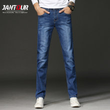 jantour 2018 Men Blue Jeans Homme Straight Elastic Factory Jeans Skinny Jeans Men Brand Mens Designer Jeans Pants Large size 40(China)