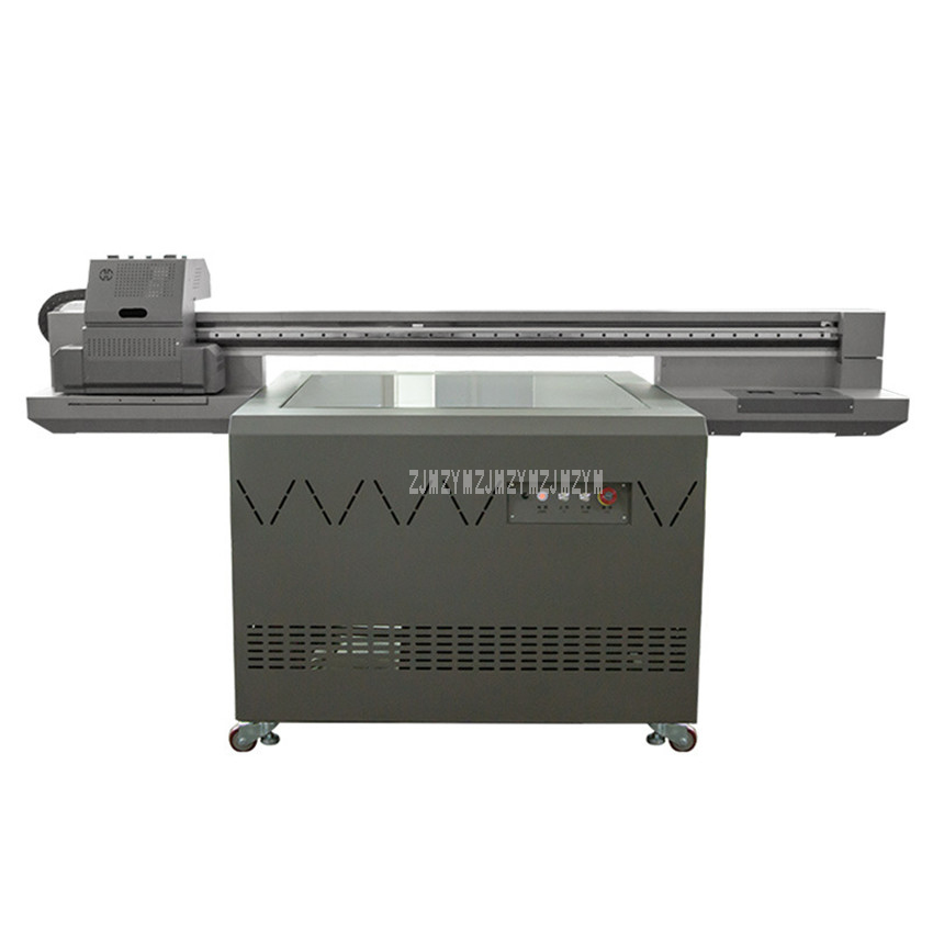 Large Flatbed Universal Printing Machine Round/Plane Shape UV Printer PVC/Wooden/Metal Plate Wine Bottle Printer KC 9060 220V