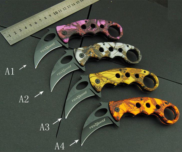 New Karambit font b Knife b font FOX Folding font b Knife b font 440C Blade