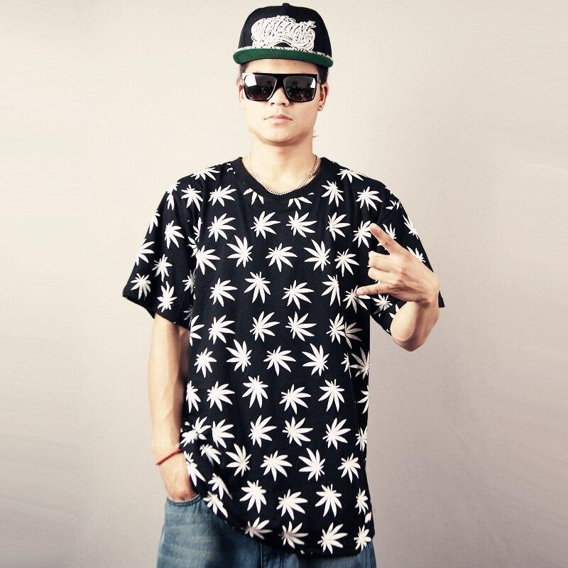 fashion street boy weed HARAJUKU skateboard hiphop tops & tees men boys shirts new 2015 sports clothing sale - US LIN store