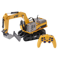 Remote control engineering vehicle 14 channel alloy crawler excavator 2.4G RC car metal bulldozer toys