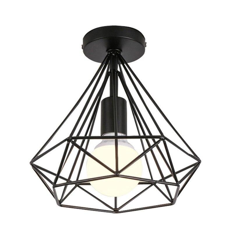 HTB16lqQX8iE3KVjSZFMq6zQhVXau 20cm Vintage Industrial Rustic Flush Mount Ceiling Light Black / White Metal Lamp Fixture Nordic Style Creative Retro Light Lamp