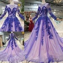 vestido de noiva High Low Off The Shoulder Prom Dresses Long  Muslim Evening Formal Gowns Purple dress