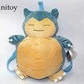Anime Cartoon Monsters Bulbasaur Snorlax Plush Backpack Bag Soft Stuffed Animal Dolls for Children Kids' Toy AP0248