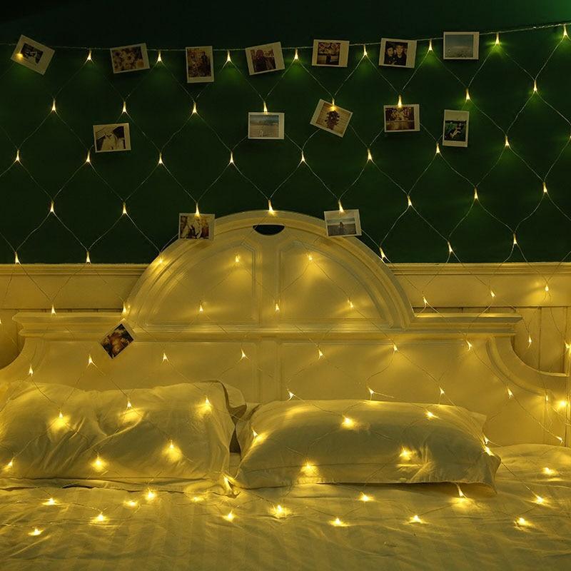 Гирлянда 3 м x 2 м 200 светодиодов, сетчатая гирлянда, светящаяся лампа для дома, сада, Рождества, свадьбы, рождественской елки, вечерние гирлянды, украшение