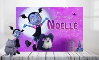 Custom Vampirina Full Moon Village Birthday background High quality Computer print Halloween photo backdrop