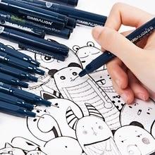 9Pcs/set Simbalion Pigma Micron Fineliner Marker Needle Pen Professional Drawing Design Manga Hook Line Sketch Pen Art Supplies pentel cartoons sketch pen jm20 ash drawing pen draft line pen